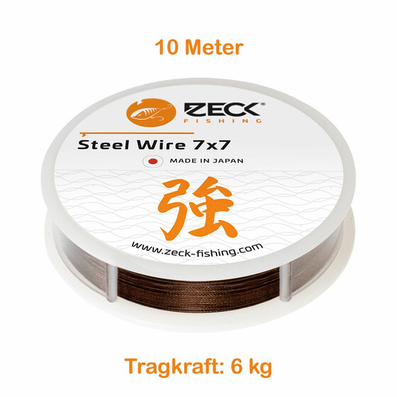 Stahlvorfach 7x7 Zeck Steel Wire 10 m 6 kg